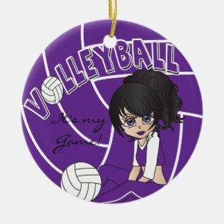 Voleibol femenino púrpura ornatos