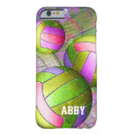 Voleibol femenino sucio funda de iPhone 6 barely there
