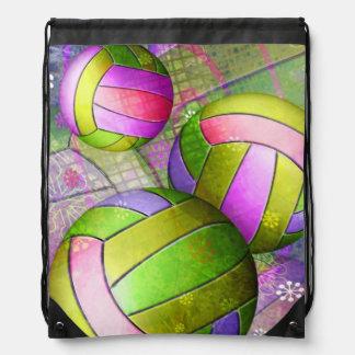 Voleibol femenino sucio mochila