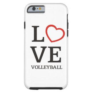Voleibol grande del AMOR Funda Resistente iPhone 6