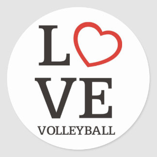Voleibol grande del AMOR Pegatina Redonda