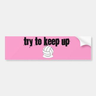 Voleibol - intente continuar pegatina para auto