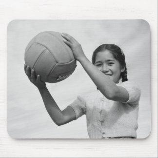 Voleibol japonés WWII del campo de internación Alfombrilla De Raton