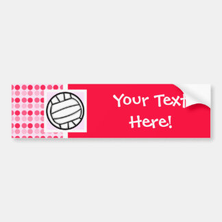 Voleibol lindo etiqueta de parachoque