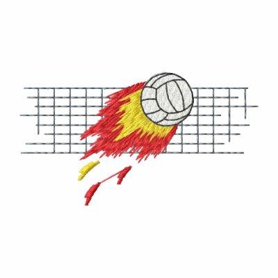 Voleibol llameante sudadera bordada