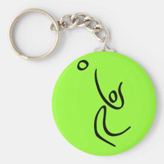 Voleibol Llavero Redondo Tipo Pin