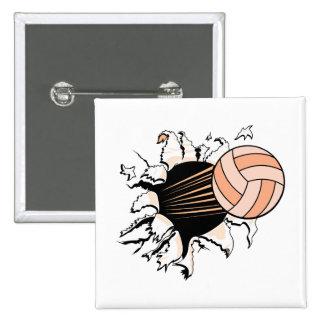 voleibol para mujer que rasga a través pin