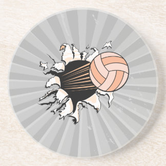 voleibol para mujer que rasga a través posavasos manualidades
