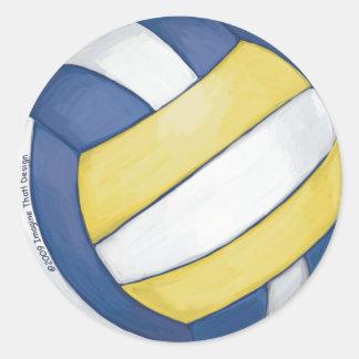 Voleibol Pegatina Redonda
