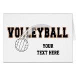 Voleibol (personalizable) felicitaciones