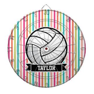 Voleibol personalizado en rayas coloridas tablero dardos