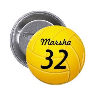 Voleibol Pin Redondo De 2 Pulgadas