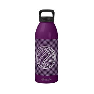 Voleibol púrpura botella de beber