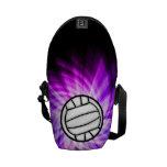 Voleibol púrpura bolsas de mensajeria