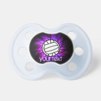Voleibol púrpura chupetes de bebe