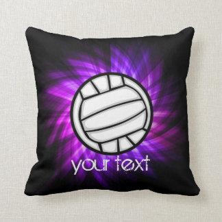 Voleibol púrpura cojín decorativo
