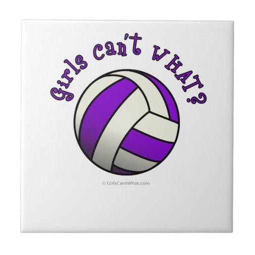 Voleibol púrpura de los chicas azulejo ceramica