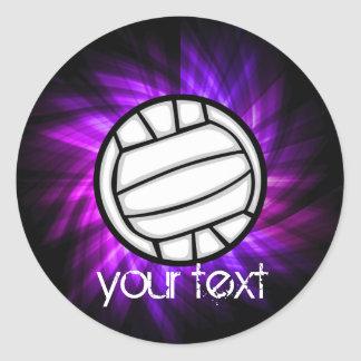 Voleibol púrpura etiquetas