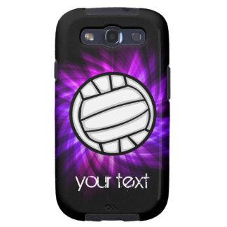 Voleibol púrpura galaxy SIII carcasas