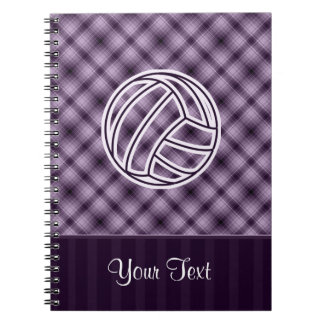 Voleibol púrpura notebook