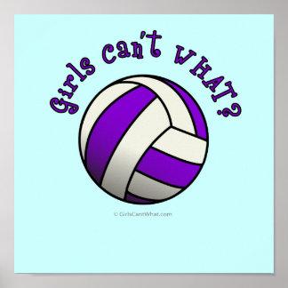 Voleibol púrpura posters