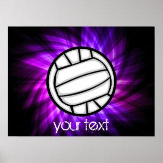 Voleibol púrpura poster