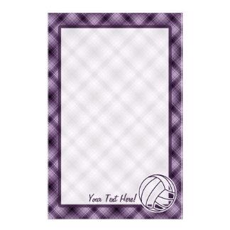 Voleibol púrpura papelería de diseño