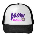 Voleibol (púrpura/rosa) gorros bordados