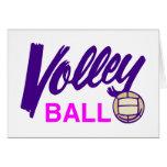 Voleibol (púrpura/rosa) tarjeton