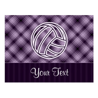 Voleibol púrpura postal