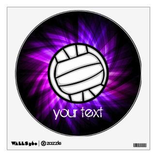 Voleibol púrpura vinilo adhesivo