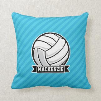 Voleibol; Rayas azules de cielo Almohadas
