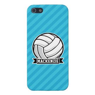 Voleibol; Rayas azules de cielo iPhone 5 Carcasas