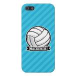 Voleibol; Rayas azules de cielo iPhone 5 Carcasa