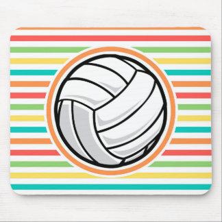 Voleibol Rayas brillantes del arco iris Alfombrillas De Ratones