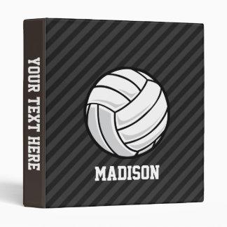 "Voleibol; Rayas negras y gris oscuro Carpeta 1"""
