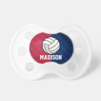 Voleibol; Rojo, blanco, y azul Chupetes De Bebe