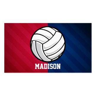 Voleibol; Rojo, blanco, y azul Tarjetas De Visita