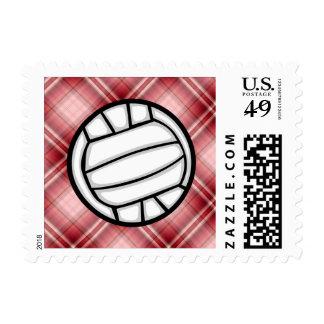 Voleibol rojo de la tela escocesa