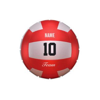 Voleibol rojo latas de caramelos