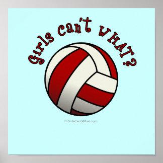 Voleibol rojo impresiones
