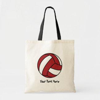 Voleibol rojo (personalizable) bolsa tela barata