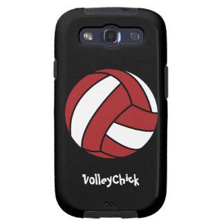 Voleibol rojo (personalizable) samsung galaxy s3 protector