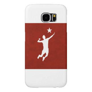 Voleibol rojo y blanco - estrella fugaz fundas samsung galaxy s6