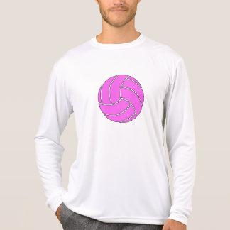 Voleibol rosado de encargo camiseta