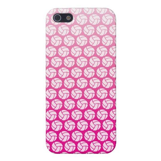 Voleibol rosado de la pendiente iPhone 5 fundas