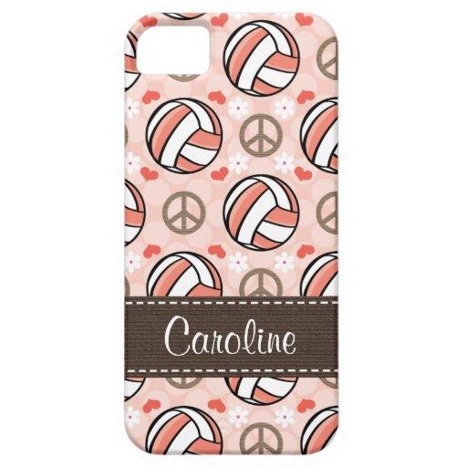Voleibol rosado iPhone 5 protector