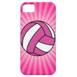 Voleibol rosado iPhone 5 fundas