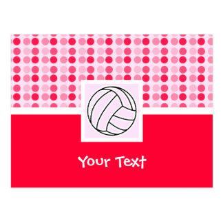Voleibol rosado lindo postal