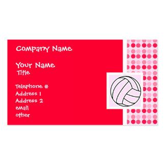 Voleibol rosado lindo tarjetas de visita